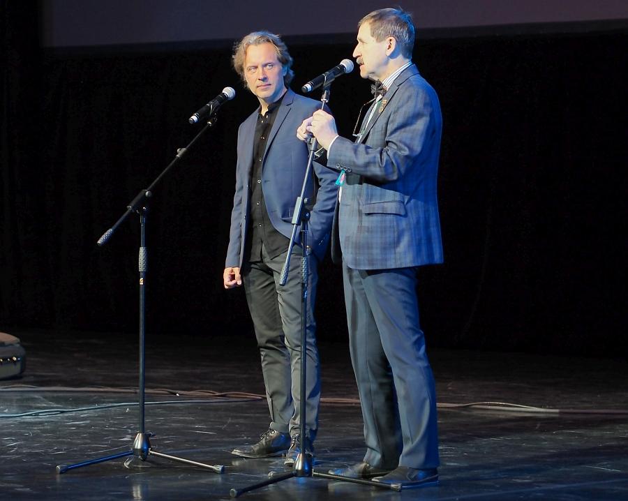 Александр Сипягин и Игорь Гаврилов на сцене зала «Миллениум»