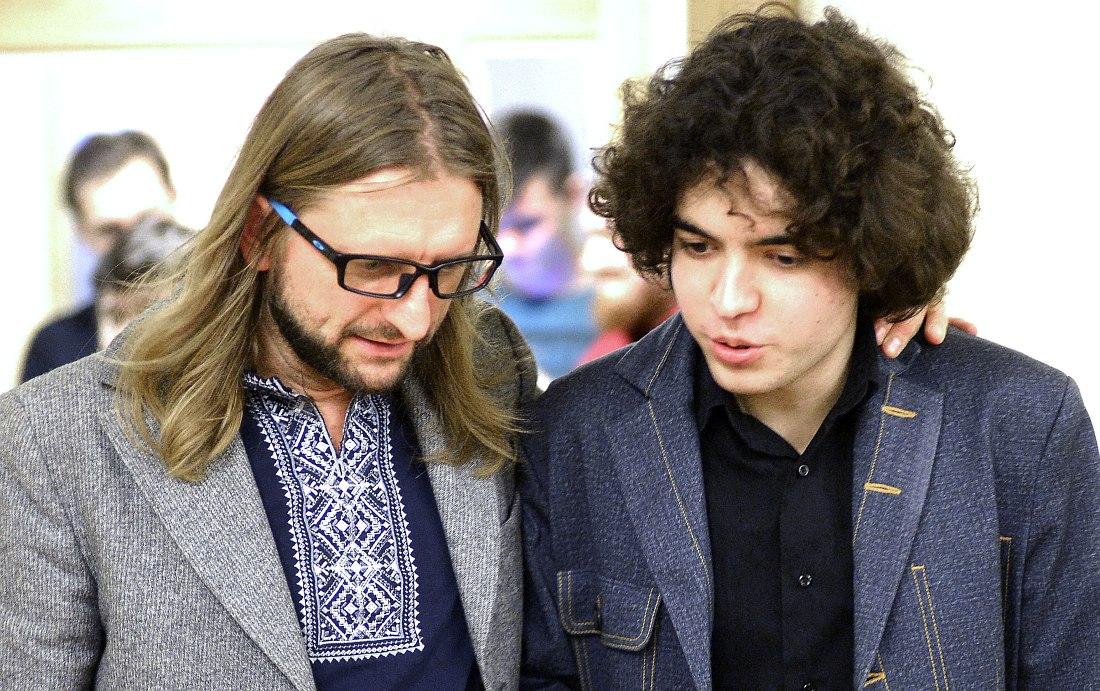 Лешек Можджер и Михаил Марышев, ученик музыкальной школы при Консерватории, который уже выступает со свои ансамблем в петербургской Филармонии джазовой музыки
