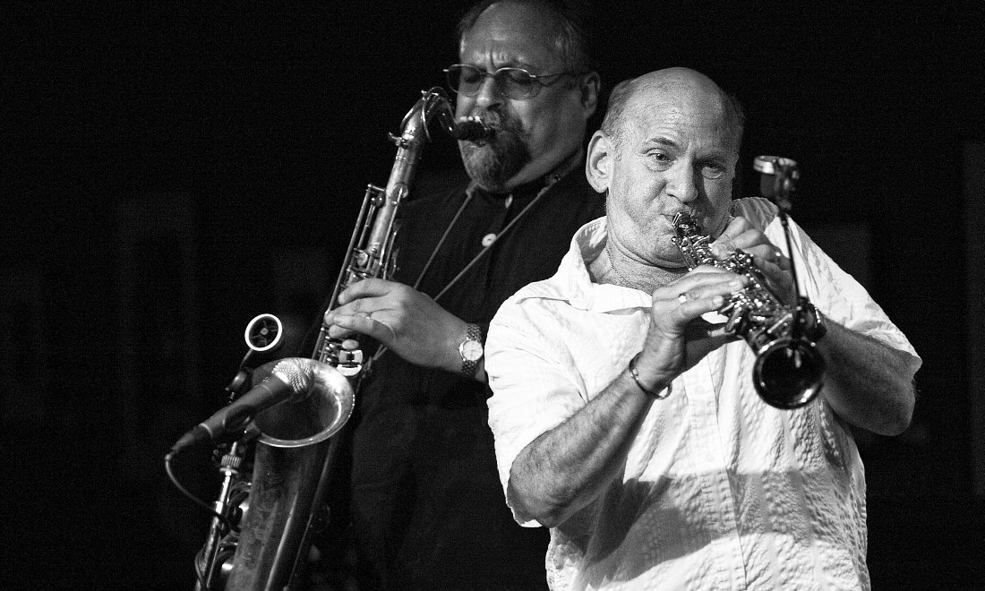 Joe Lovano, Dave Liebman (photo © Richard Conde)
