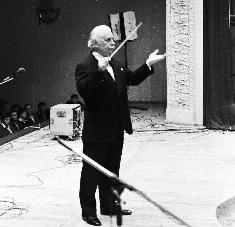 Олег Лундстрем на сцене Воронежской филармонии 19 апреля 1983 г. Фото Бориса Скрипченко.