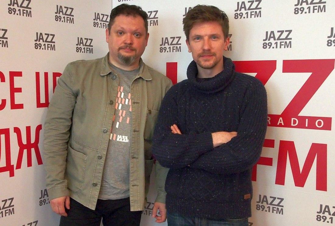 Кирилл Мошков и Пётр Дмитриев в редакции «Радио Jazz 89.1 FM»