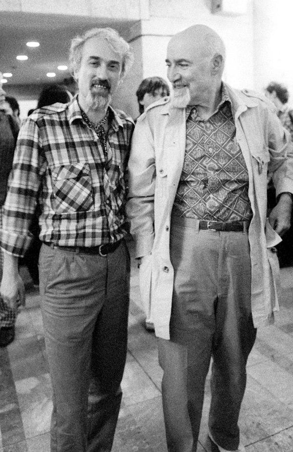 1990, I Международный джазовый фестиваль в Москве. Рафаэль Аваков (один из инициаторов публикации этого перевода) и Джордж Авакян.