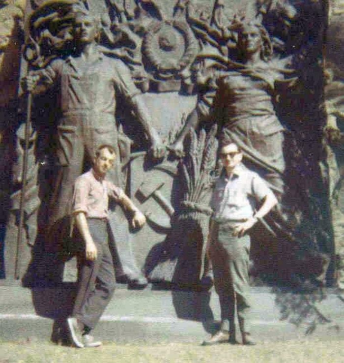 Где-то в СССР, лето 1962. Билл Кроу и Тёрк Ван Лэйк (фото из личной коллекции Билла Кроу)
