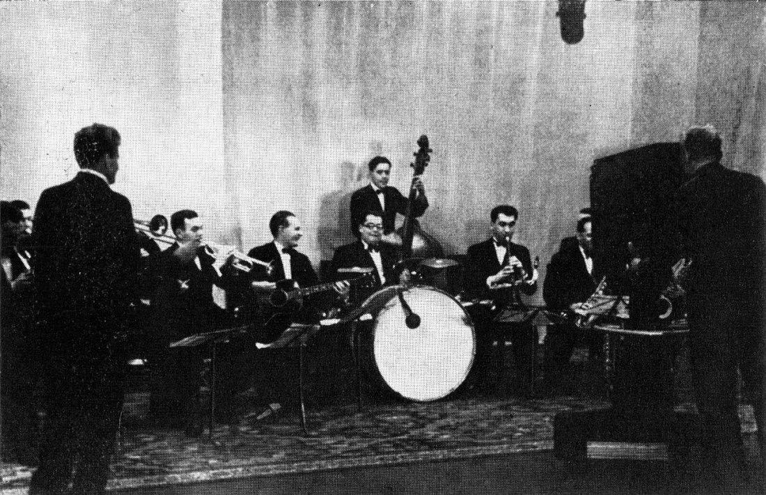 Ансамбль Александра Цфасмана на Московском телевидении, 1938