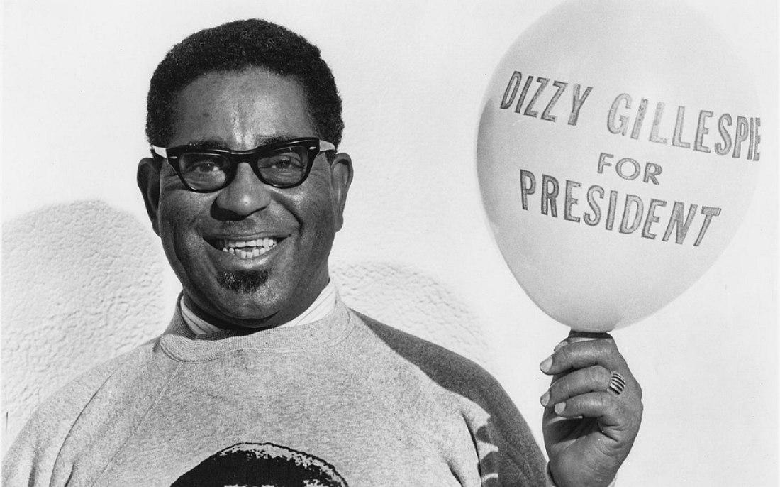Фото из материалов президентской кампании Диззи Гиллеспи, 1964