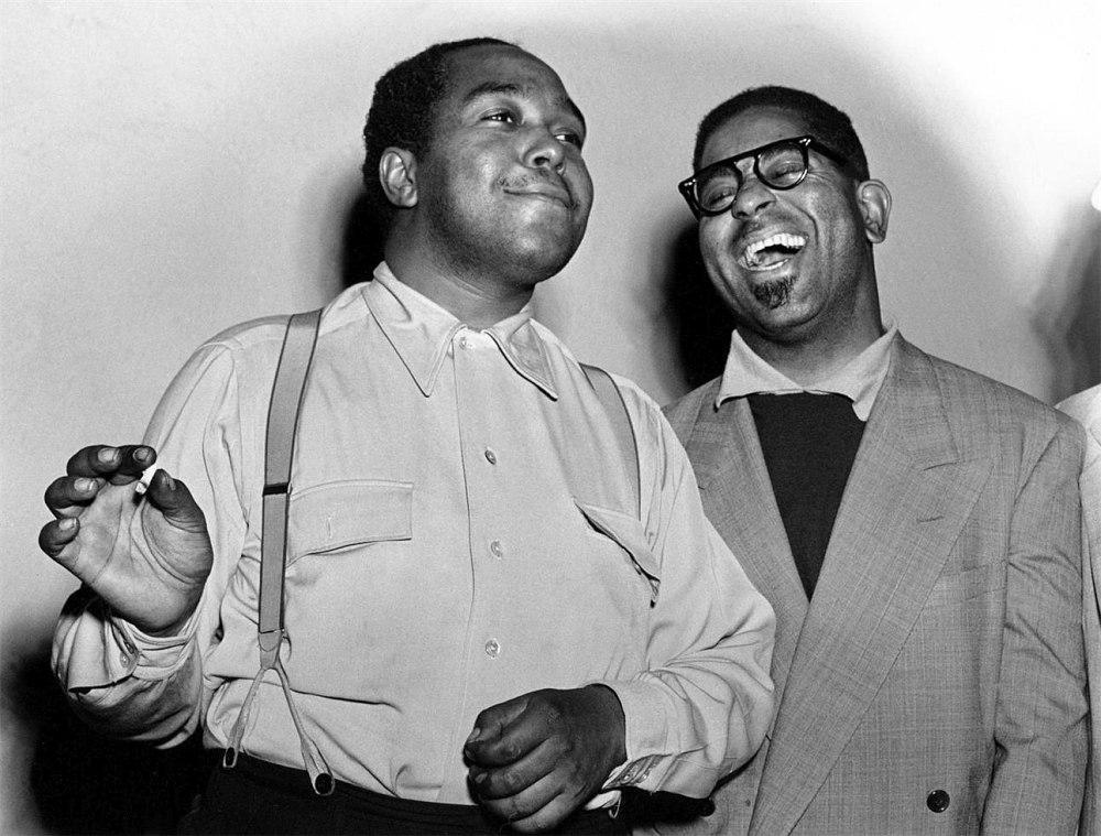 Чарли Паркер и Диззи Гиллеспи, около 1950 г.