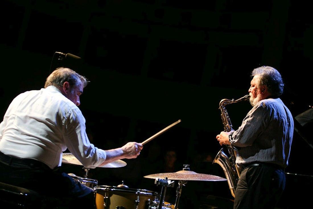 Paul Lovens, Evan Parker (pnoto © Gulnara Khamatova, 2010)