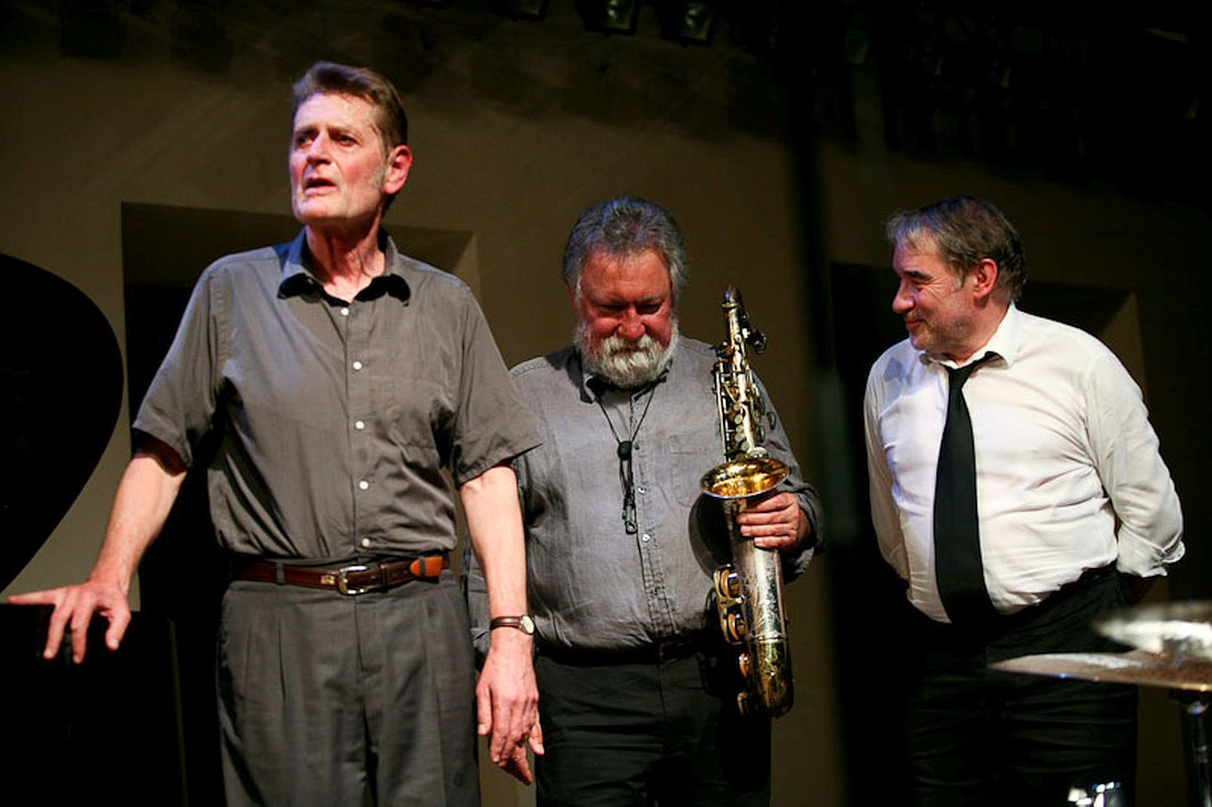 Alex von Schlippenbach, Evan Parker, Paul Lovens (photo © Gulnara Khamatova, 2010)