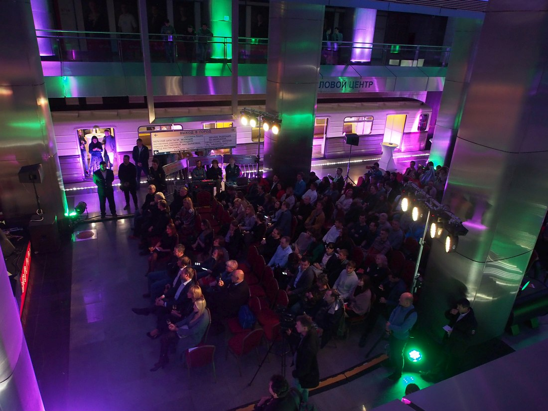 Публика на концерте «Ночь джаза в метро»