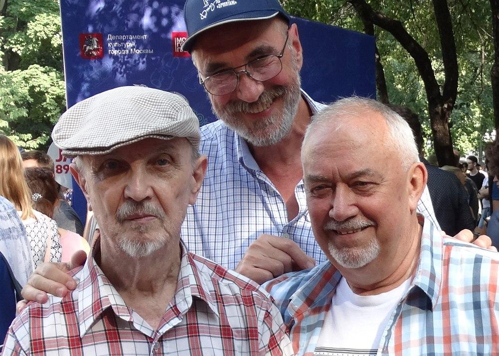 Фестиваль «Джаз в саду Эрмитаж», август 2017: Владимир Садковкин, автор очерка, Георгий Искендеров.