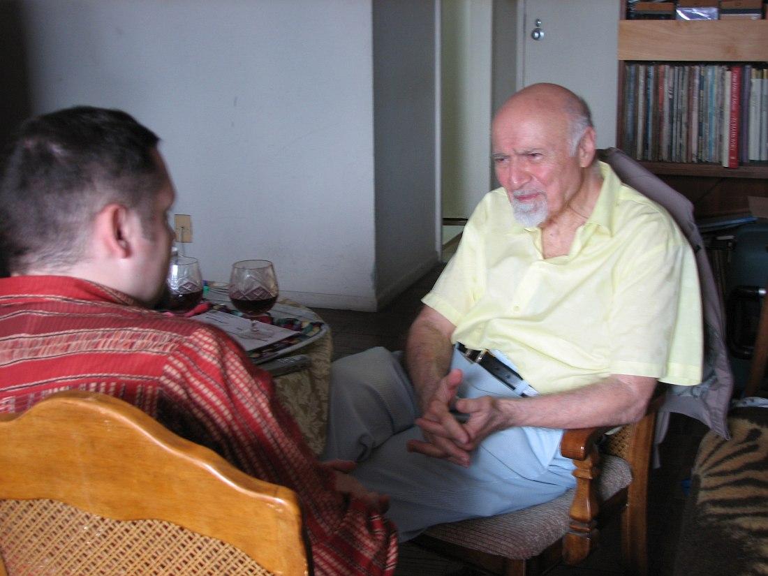 Интервью Джорджа Авакяна (слева Кирилл Мошков), июнь 2006 (фото © Анна Филипьева)