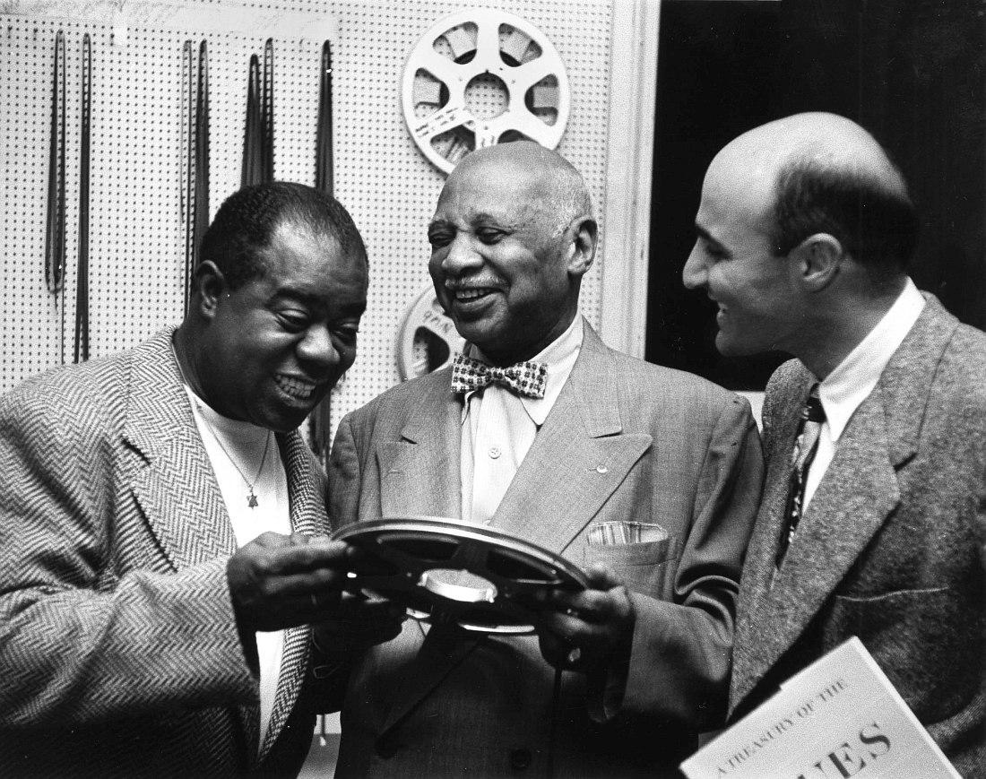 Луи Армстронг, У.К. Хэнди и Джордж Авакян, 1954 (фото из архива Дж. Авакяна)