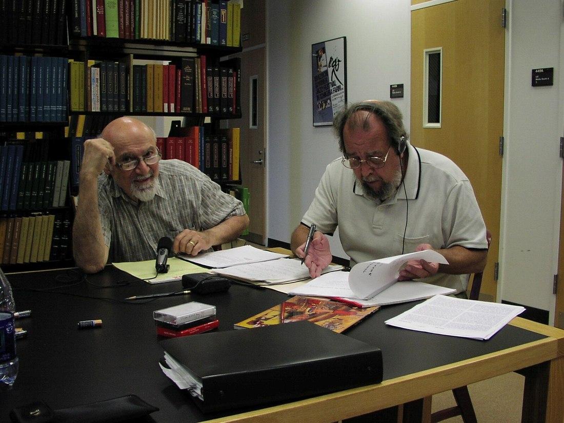 Джордж Авакян и Теренс Рипмастер, февраль 2001, Институт исследования джаза Университета Ратгерса в Ньюарке (фото автора)