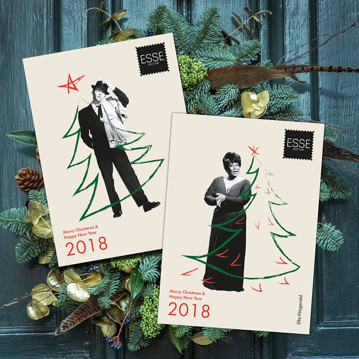 Две из пяти новогодних открыток от «Эссе»