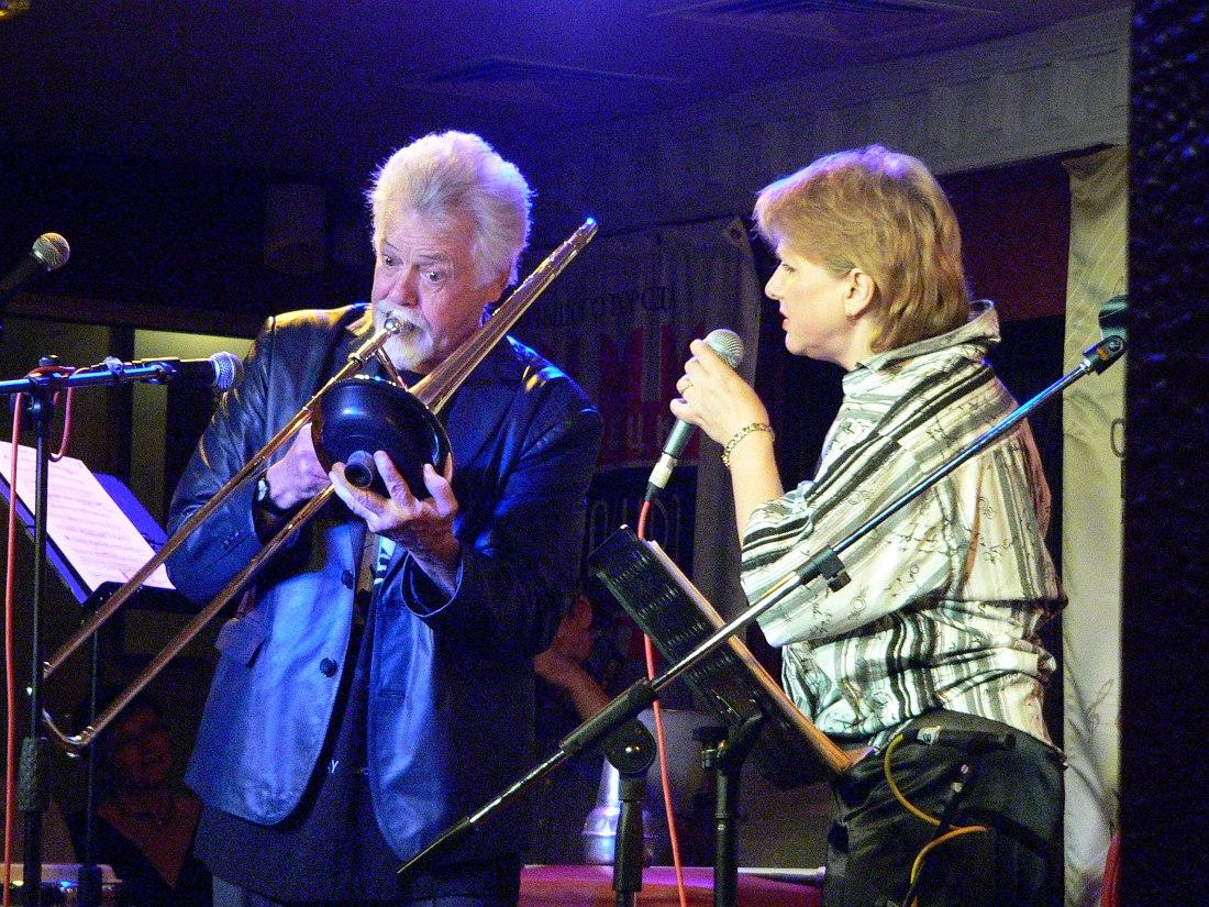 Розуэл Радд и вокалистка трио «Второе Приближение» Татьяна Комова, июнь 2007 (фото © Кирилл Мошков, «Джаз.Ру»)