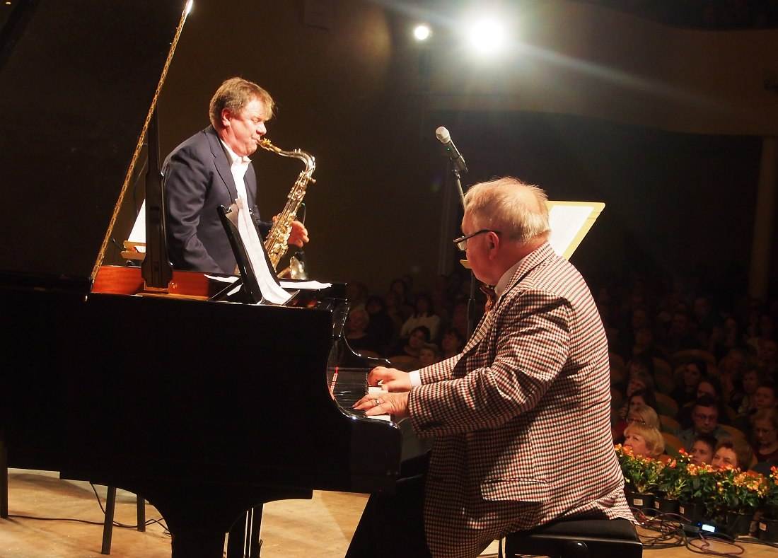 Вадим Майнугин (фортепиано) и Игорь Бутман (тенор-саксофон)