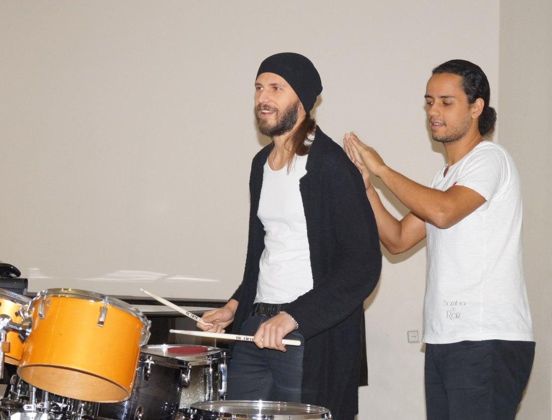 Лео де Паула (справа) проводит мастер-класс