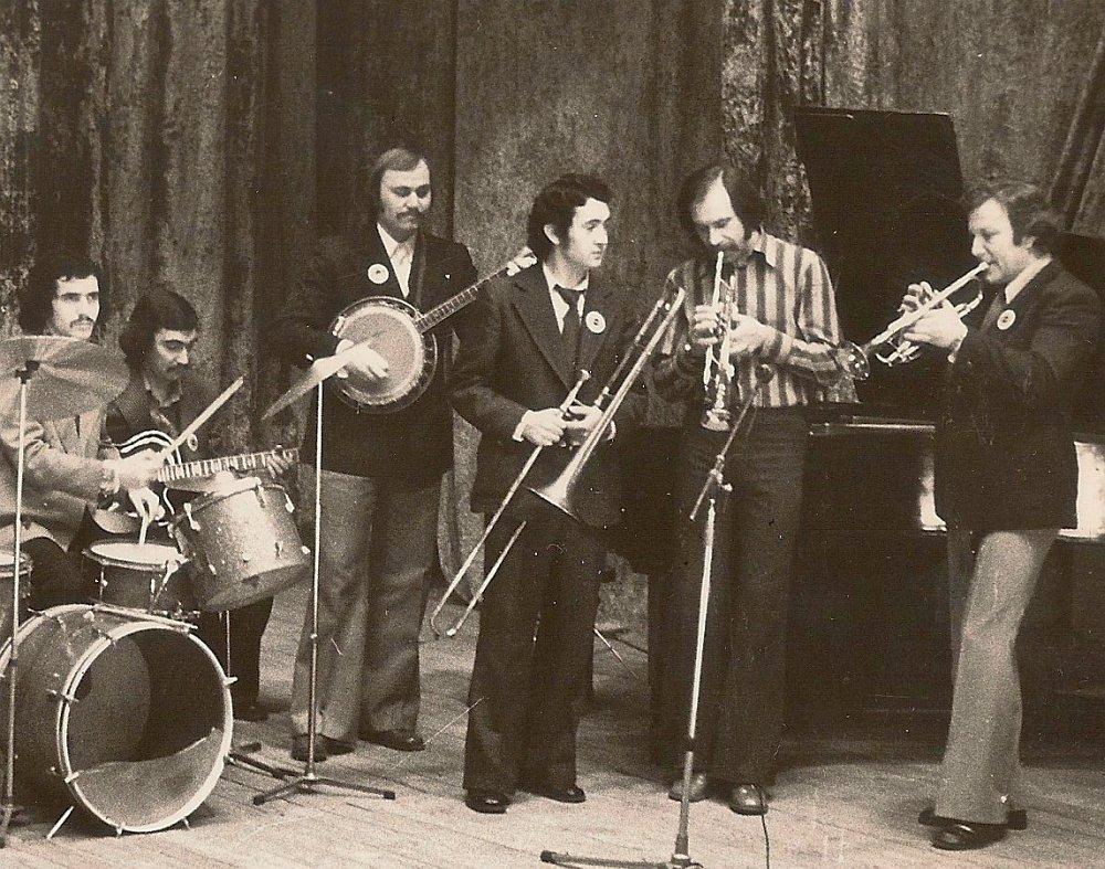 Игорь Бурко (крайний справа) на джаз-фестивале в Тбилиси, 1978