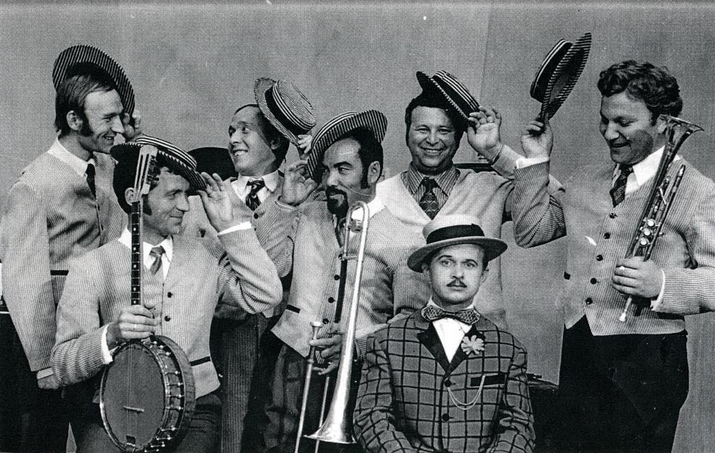 «Уральский диксиленд» в конце 1970-х гг. (Игорь Бурко крайний справа)