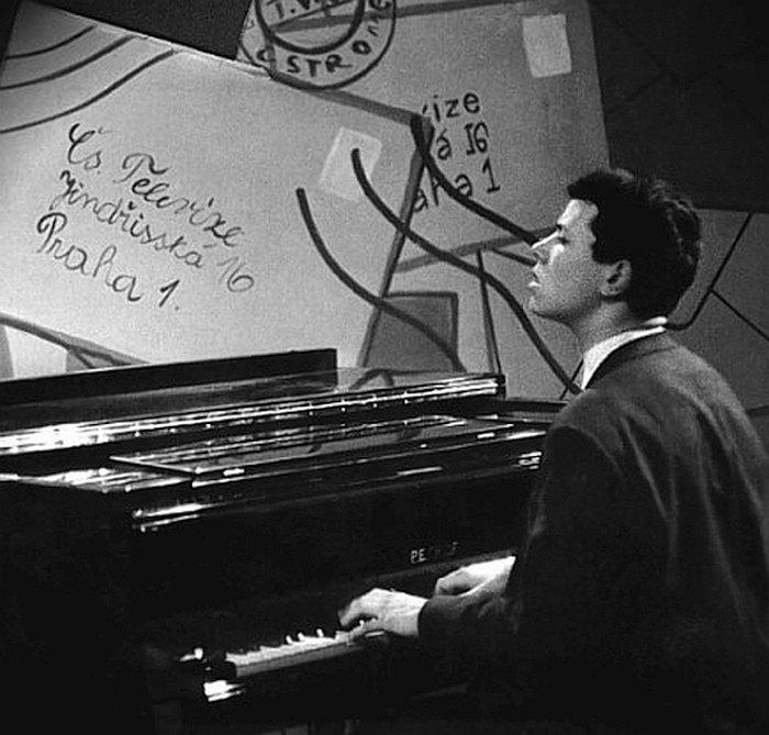 23-летний Ян Хаммер на чешском телевидении, 1965