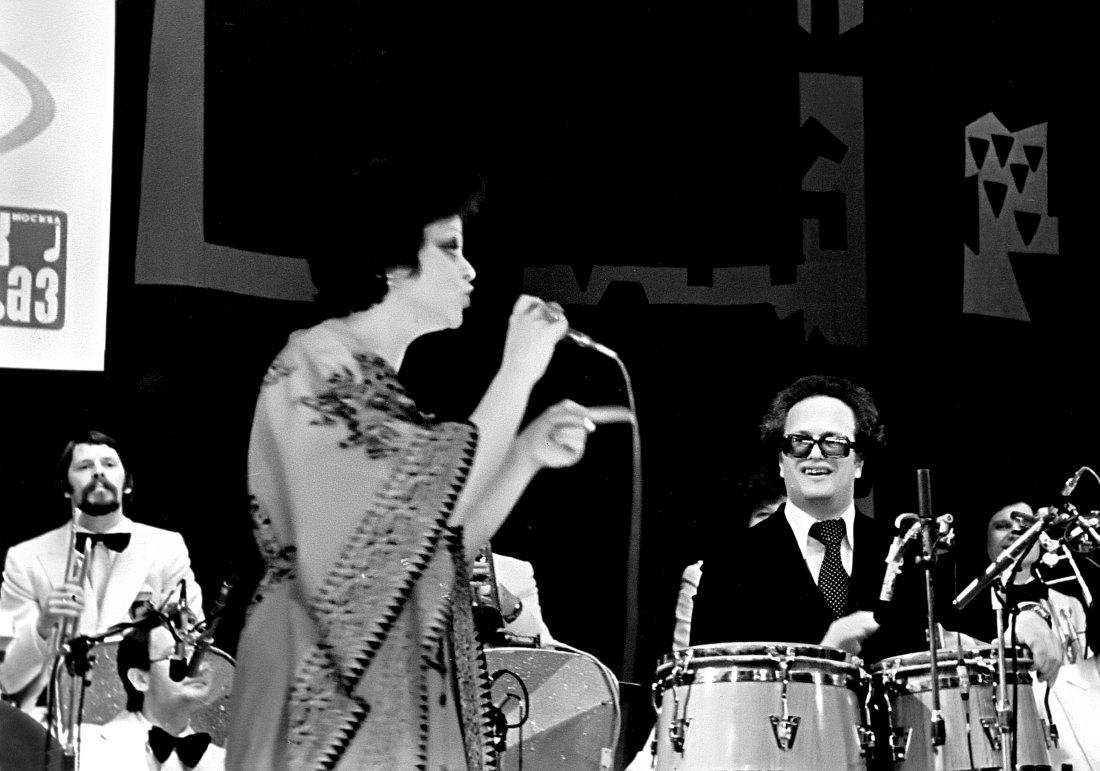 Лариса Долина и Анатолий Кролл в оркестре «Современник», 1970-е гг.