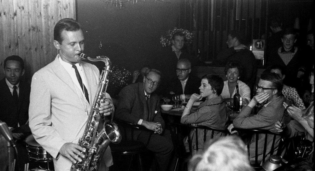 Саксофонист Стэн Гетц, ок. 1954