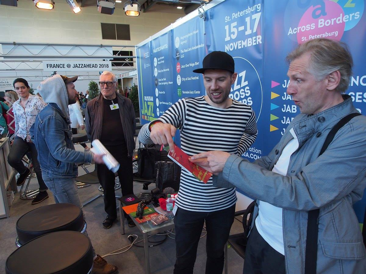 At the Russian Jazz World stand
