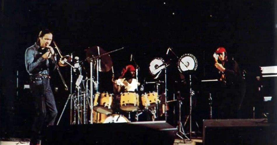 Albert Mangelsdorff, Alphonse Mouzon, Jaco Pastorius, 1976 (с обложки альбома «Trilogy: Live!» )