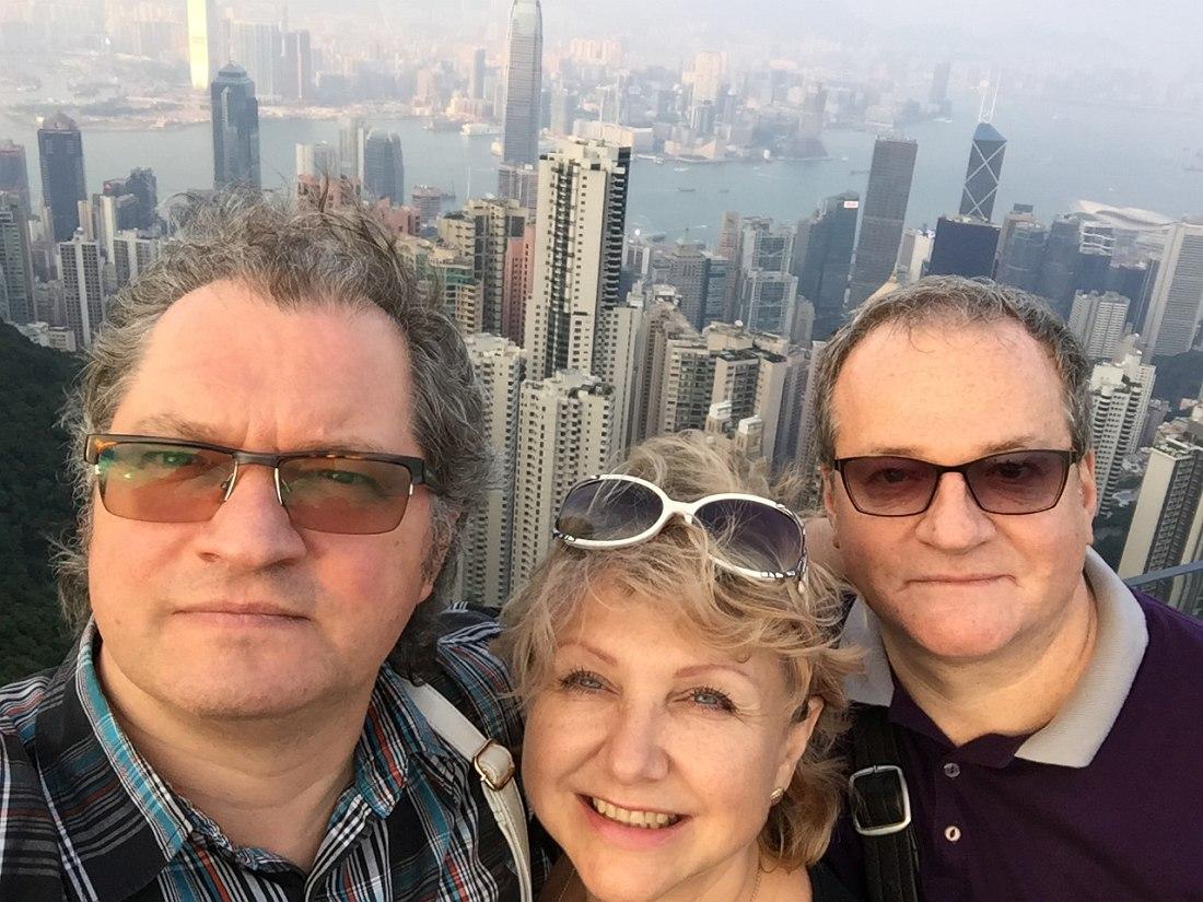 Игорь Иванушкин, Татьяна Комова, Андрей Разин. Гонконг, 2015