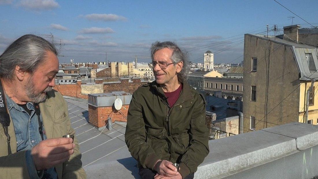 Сергей Ковальский и Вячеслав Гайворонский в первых кадрах фильма