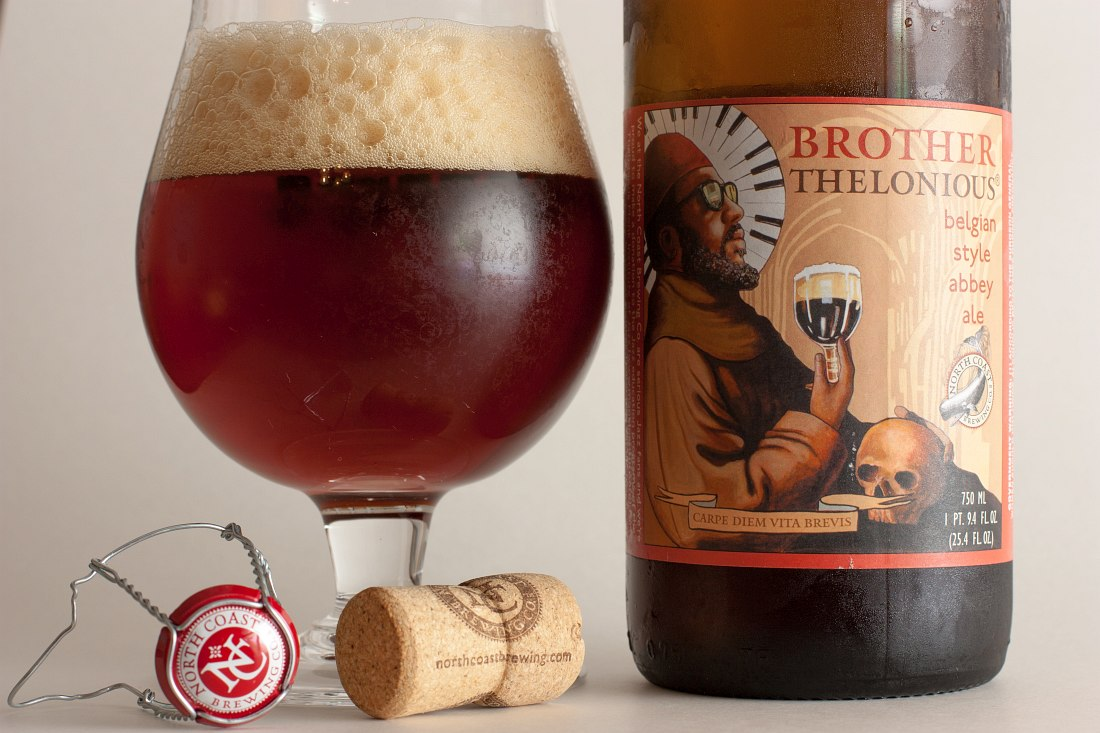 Brother Thelonious Belgian Style Abbey Ale, by North Coast Brewing Co