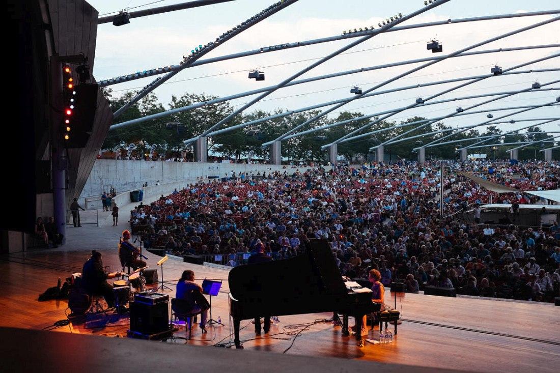 Главная сцена Чикагского джаз-фестиваля