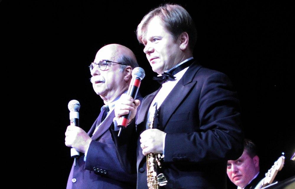 Айра Гитлер и Игорь Бутман. ГЦКЗ «Россия», фестиваль Триумф джаза», февраль 2002. Фото © Кирилл Мошков, «Джаз.Ру»