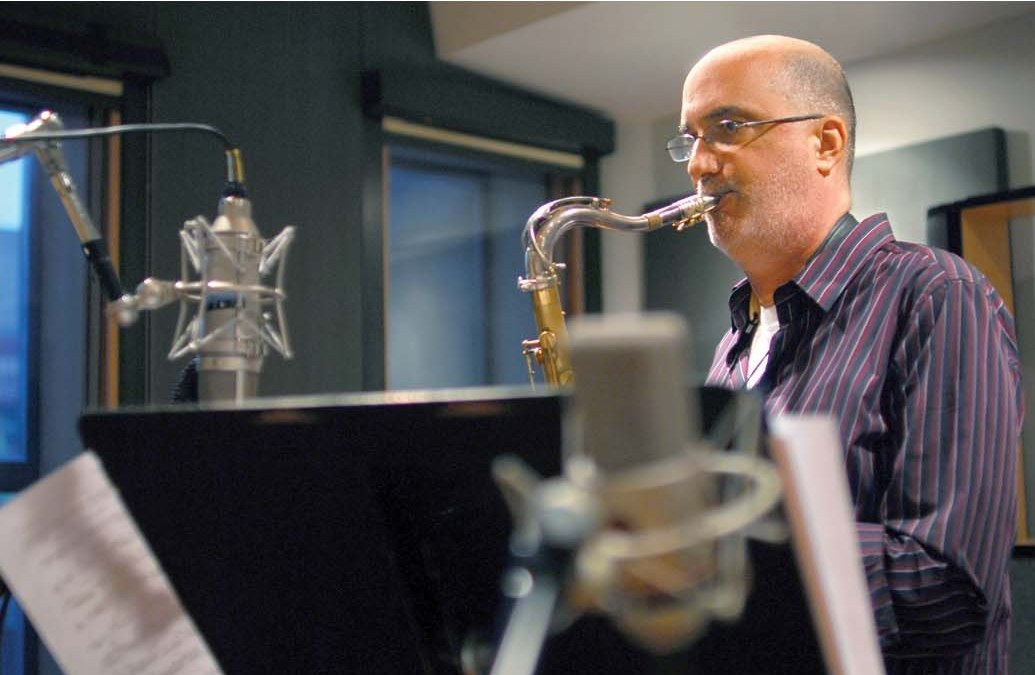 Майкл Бреккер на записи своего последнего альбома