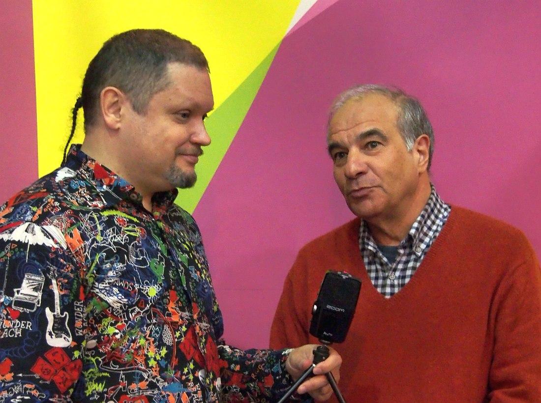 Кирилл Мошков и Армен Манукян (съёмка беседы для видеоканала «Джаз.Ру», сентябрь 2016)