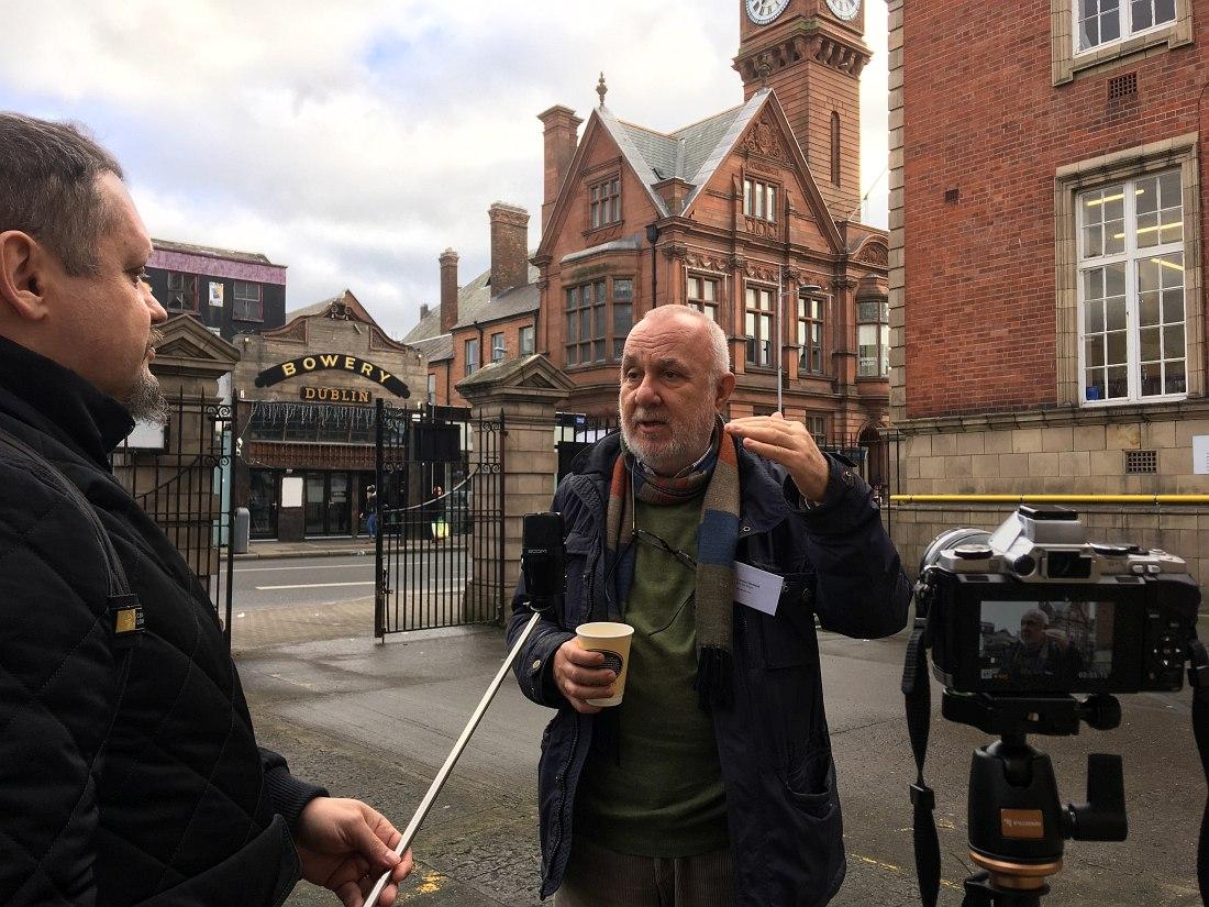 Кирилл Мошков и Франческо Мартинелли, Дублин (Ирландия), январь 2019: интервью для будущего фильма об исследователях джаза