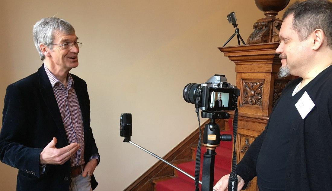 Алин Шиптон и Кирилл Мошков, Дублин (Ирландия), январь 2019: интервью для будущего фильма об исследователях джаза