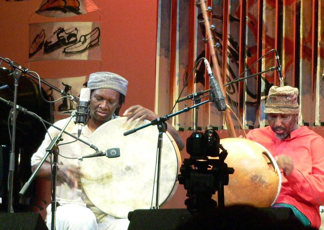 Хамид Дрейк и Уильям Паркер на фестивале Vision в Нью-Йорке, 2009 (фото © Кирилл Мошков, «Джаз.Ру»)