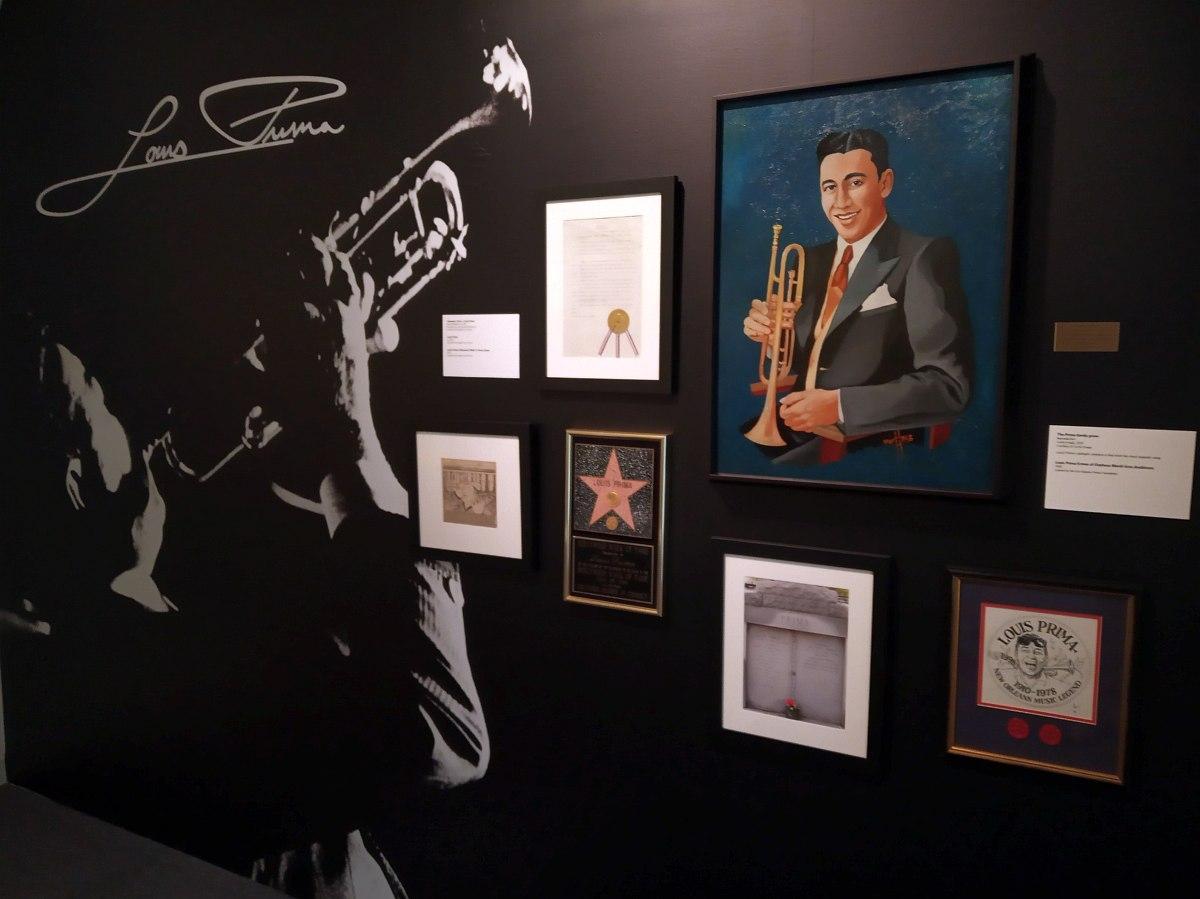Часть экспозиции, посвящённой Луи Прима