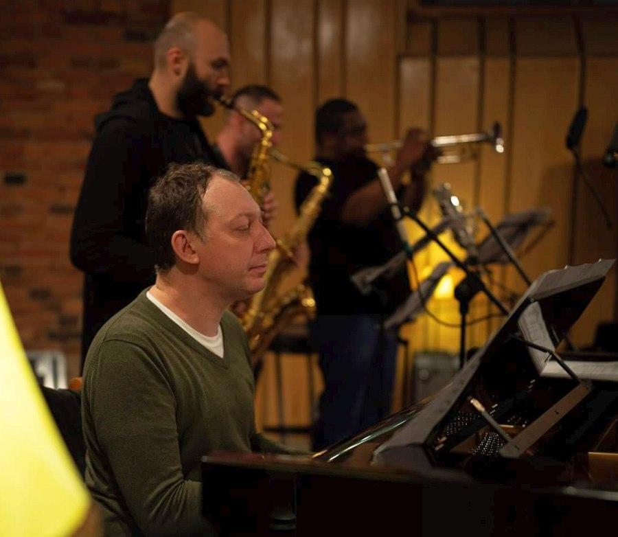 Yakov Okun recording the Russian-Polish Jazz Dialog, October 2019