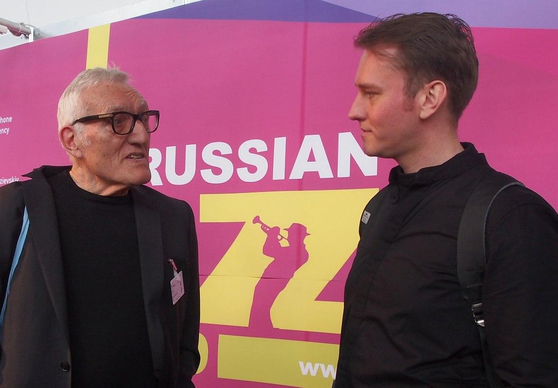 Jazzahead!-2017, Бремен: Джерри Текенс и российский пианист Евгений Лебедев на объединённом российском стенде
