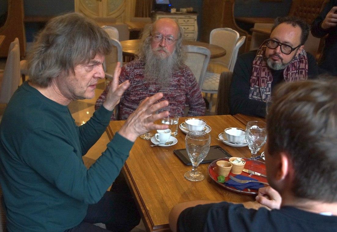 Аркадий Шилклопер, Сергей Летов, Дмитрий Мильков. Фото © Дмитрий Конрадт