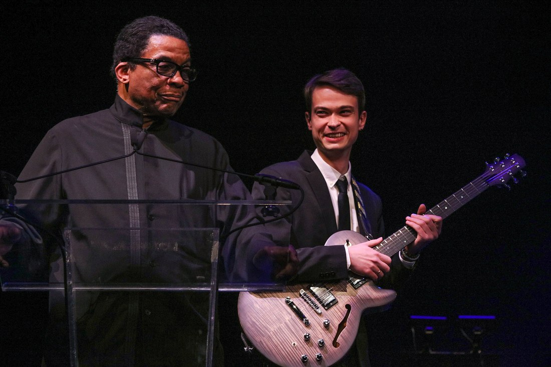 Herbie Hancock, Evgeny Pobozhiy (photo © Steve Mundinger, Herbie Hancock Institute of Jazz)
