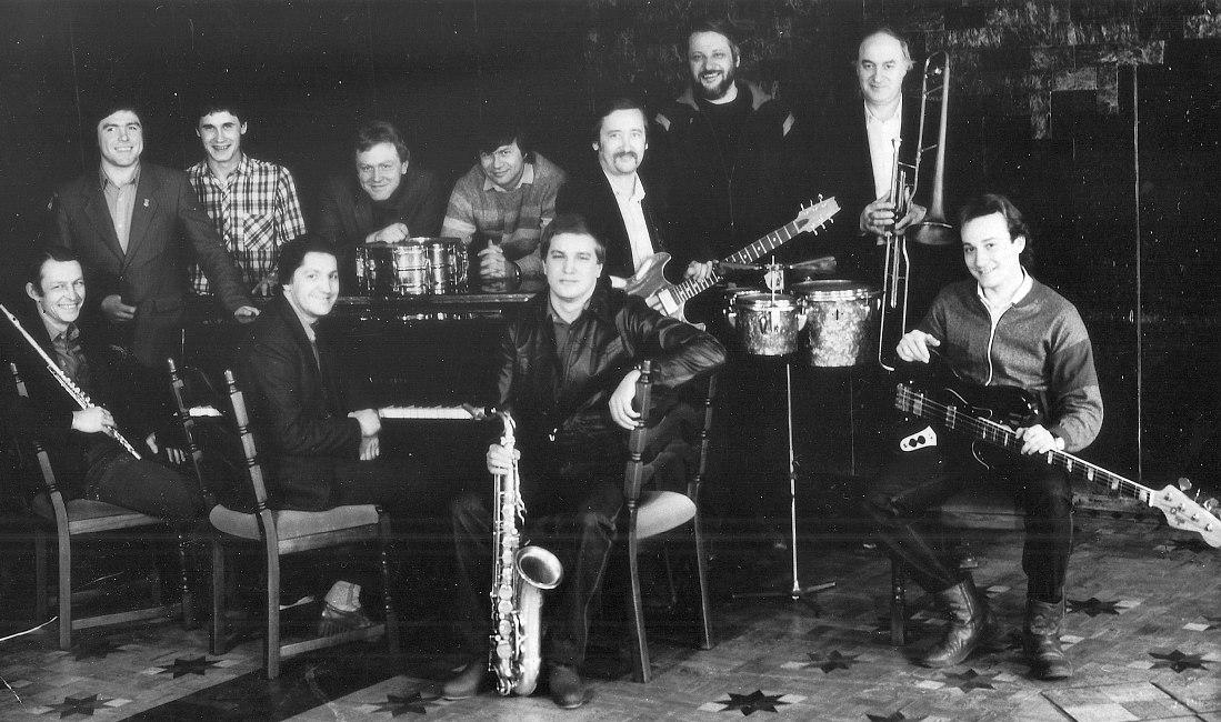 Ансамбль «Челябинск» перед поездкой на всесоюзный джаз-фестиваль в Тбилиси, 1986 г.