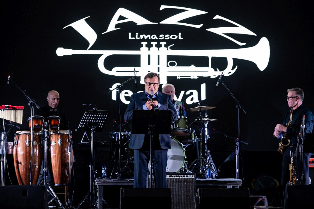 Vyacheslav Zarenkov at the opening of the Limassol International Jazz and Pop Festival