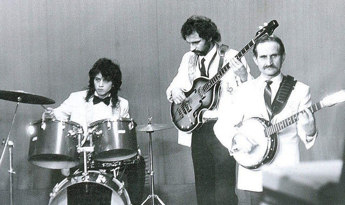 За барабанами Леонид Гусев. 1980-е гг.