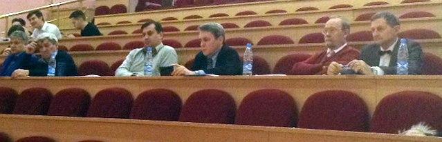 Жюри (слева направо): В.А. Зайдин, Л.И. Янков, О.И. Абрамов, Р.Х. Галиуллин, А.Л. Коротеев, В. Школьный