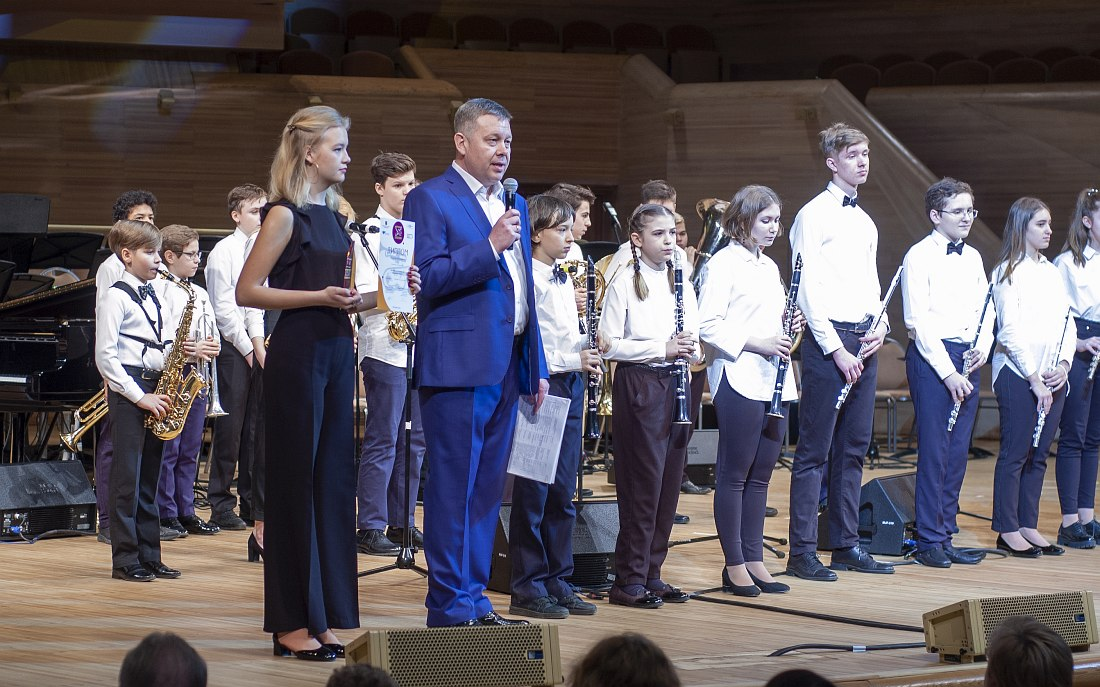 Павел Овчинников и участники конкурса
