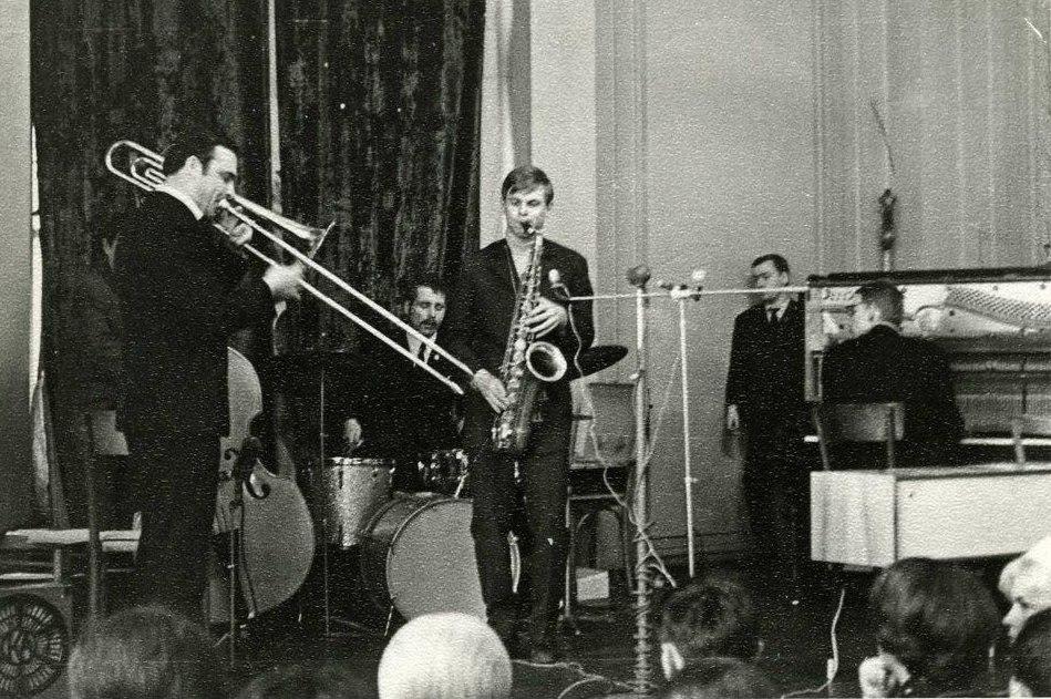 Тромбон: Геннадий Киселёв. Тенор-саксофон: Владимир Пресняков (Фото из архива Геннадия Киселёва)