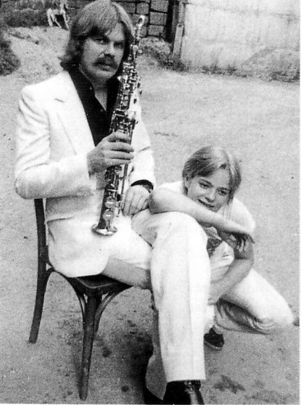 1980-е. С сыном (фото из архива Владимира Преснякова)